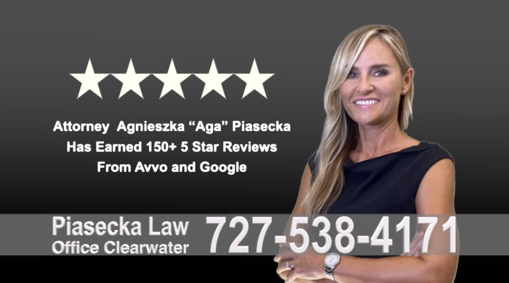 Clearwater, Agnieszka, Aga, Piasecka, Polish, Lawyer, Attorney, Opinie klientów, Best, Najlepszy, Polskojęzyczny, Prawnik, Polski, Adwokat, Florida, Floryda, USA